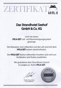 Zertifikat Hyla