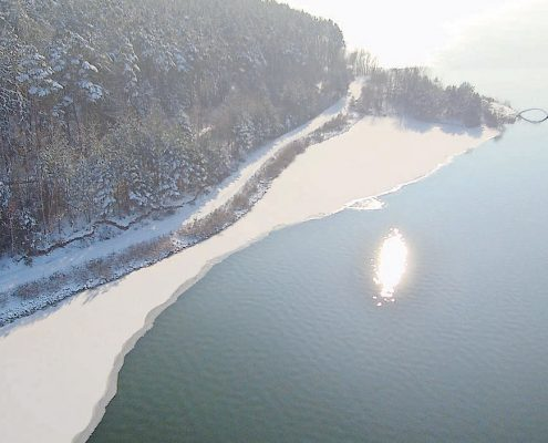 Winter am Brombachsee