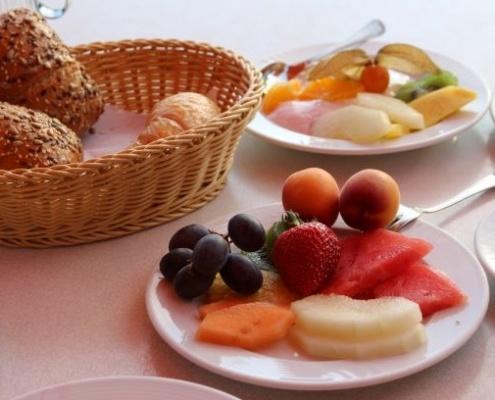 Frühstück im Strandhotel Seehof